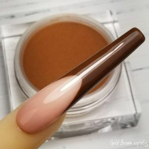 Coloured acrylic gold brown 10-065
