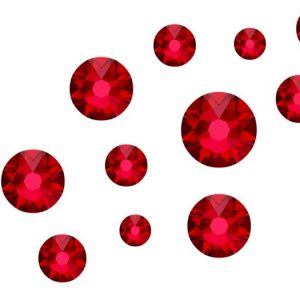 Swarovski scarlet mixed sizes
