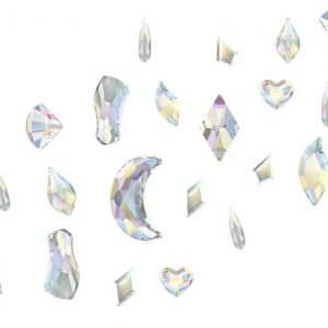 Swarovski nail art shape mix pack of 12 AB